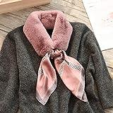 YUANMEI Haariger Schal für Studentinnen, all-Match-Mode, Wärme, Plüschkragen,Lätzchen, Mädchen, 12#Duftende Taro-Kette, 120Cm