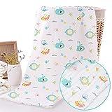 Caiery Baby Musselin Waschlappen | Baby Badetücher | Babybadetuch | Babyhandtuch (70X140 CM)