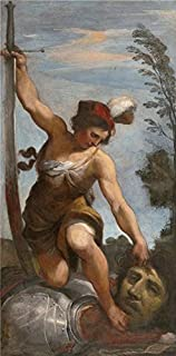 Oil Painting 'Giovanni Francesco Barbieri,David With The Head Of Goliath,about 1618' Printing On Perfect Effect Canvas , 24x49 Inch / 61x124 Cm ,the Best Laundry Room Decoration And Home Decoration And Gifts Is This High Resolution Art Decorative Prints On Canvas