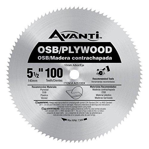Avanti 5-1/2 X 100T Plywood, Silver, One Size (A05100X)