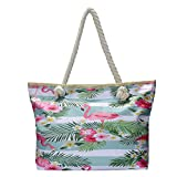 Grande borsa da spiaggia idrorepellente con cerniera Borsa a tracolla Shopper Retro Hawaii
