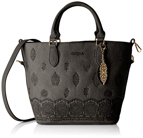 Desigual Bag Paola Florida Women - Borsette da polso Donna, Nero (Negro), 16.5x25.8x26.2 cm (B x H T)