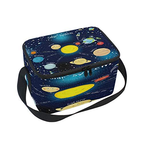 Use7 Lunchbox mit Solarsystem, Isoliert, für Picknick, Schule, Damen, Herren, Kinder