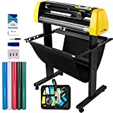 VEVOR Upgrade Vinyl Cutter Machine, 34 inch Paper Feed Cutting Plotter, Automatic Camera Contour Cutting LCD Screen Printer w/Stand Adjustable Force and Speed for Sign Making Plotter Cutter