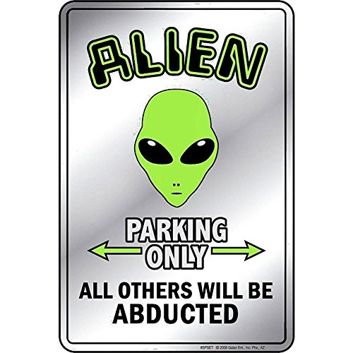 Signs 4 Fun Spset Alien Small Parking Sign