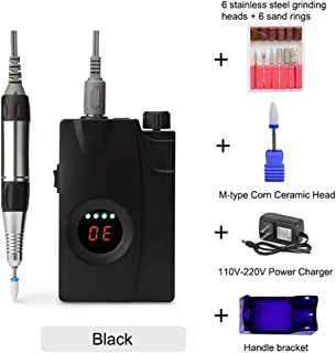 30000RPM Portable Electric Nail Drill Machine, Rechargeable Cordless Manicure and Pedicure Set for Nail Equipment