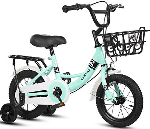 Suge Kids Bike, della Ragazza del Ragazzo della Bicicletta del motorino 2 Ruote Biciclette for 2-11 Anni, 12' 14' 16' 18' Bambino Bicicletta con rotelle di addestramento & Mano Freni e Carrello