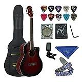 Bailando 40 Inch Cutaway Acoustic Guitar, Redburst
