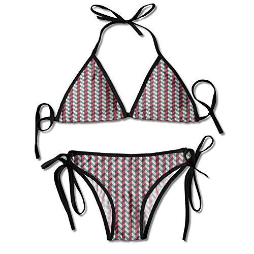 heefan Bikini Costume da Bagno Set 2 Pezzi, Abete Foresta Abeti Bikini 2 Pezzi