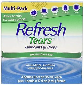 Refresh Tears Eye Drop Lubricant 4 x 15ml Bottles + 1 Bonus 5ml Bottle