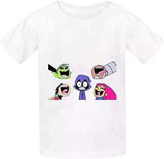 Boyshshshirts Teen Titans Go Cute 3D Printed Childrens Cotton t-Shirts Short-Sleeved Sport t-Shirts Boys and Girls