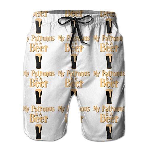 Mein Patronus ist eine Bier Herren Strandhose Quick Dry Swim Shorts 2XL