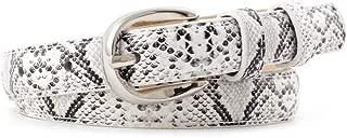 Snakeskin Print Belt For Women/Girl Metal Buckle For Jeans Dress Slim Belts
