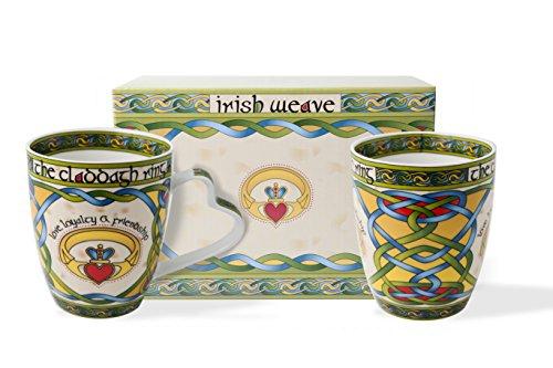 Royal Tara Irish Claddagh Mug Set of Two with Irish Box,Capacity per cup is 380 ml/13 fl oz