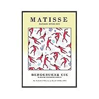 ピカソポスターミニマリスト壁アートパネル写真北欧キャンバスプリントマティス壁アートパネルベージュ抽象線絵画インテリア用リビング部屋ギャラリー壁装飾