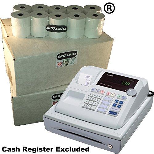 eposbits® marca 80 rollos – 4 cajas para Casio pcr262 PCR 262 pcr-262 caja registradora: Amazon.es: Oficina y papelería