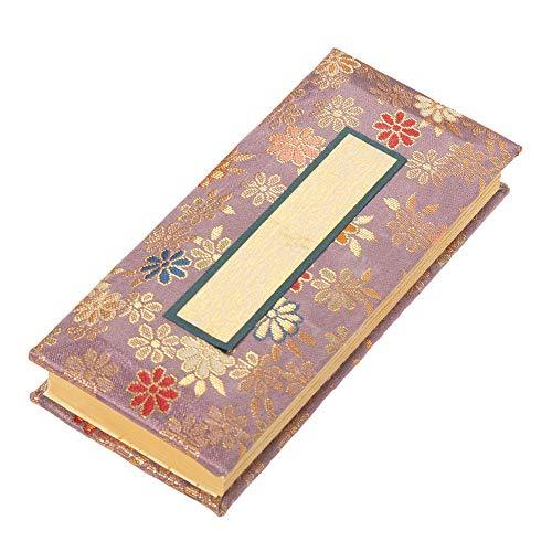 仏具 過去帳 金襴鳥の子 夢源(むげん)藤色 日付なし 5寸