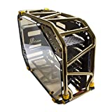 IN WIN D-Frame 2.0 BK/GO Gold/Black Motorcycle Steel Tube ATX Full Tower Case Includes SII-1065W Power Supply Cases, Black/Gold