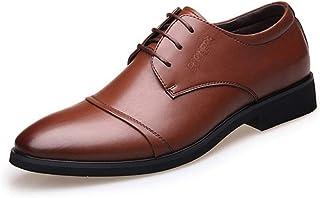 Men's Low-Top Oxfords Shoes Formal Shoes (Color : Brown, Size : 44)