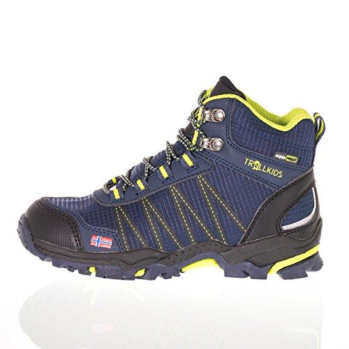 Trollkids Trolltunga Chaussures de randonnée imperméables pour enfant Taille M - Bleu - Bleu Marine Viper, 31 EU