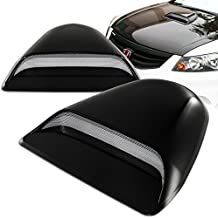 Mega Racer Universal JDM Style Decorative Hood Scoop Smoke Black Sport Racing Air Flow Intake Vent Cover Auto