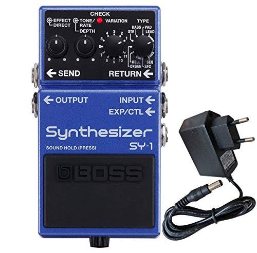 Boss SY-1 - Sintetizador de efectos para guitarra y bajo (incluye fuente de alimentación keepdrum)