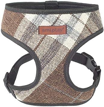 Gris XS max 23 x 25-40 cm amiplay Harnais pour chien London 6 tailles et 2 couleurs