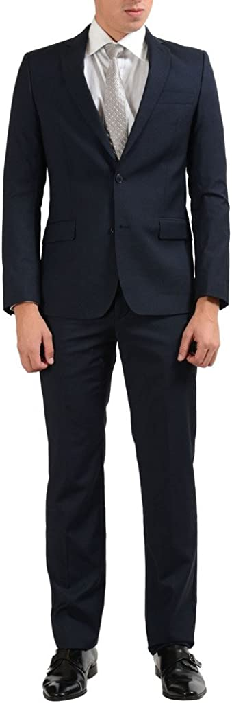 Versace Collection 100% Wool Navy Two Button Men's Suit US 42 IT 52;