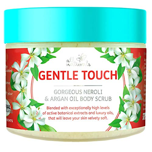 All Naturals, Pure Organic Exfoliating Body Scrub with Neroli and Argan Oil, 400g, Intensive Skin Revitalising & Softening Treatment. Gifts for Women.