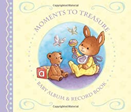 Moments To Treasure: Baby Album and Record Book with Keepsake Memory Box by Angie Hicks (Illustrator) (Illustrated, 1 Mar 2010) Hardcover