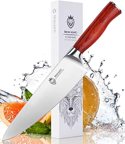 Chef Knife, High Carbon German Stainless Steel, Sharp Kitchen Knife, 8 Inch Professional Chef's Knife, Perfect Kitchen Gift for Cooking Lovers and Chefs.
