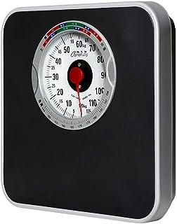 Báscula de Grasa Corporal, báscula de baño hasta 120 kg Mide el Cuerpo Placa de Acero Esencial, plástico ABS, Cuero sintético, Peso Duro, Grasa, músculo, Agua, etc.