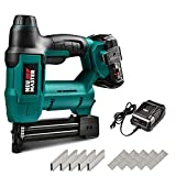Cordless Brad Nailer, NEU MASTER NTC0023 Cordless Staple Gun for Upholstery, Home Improvement and...
