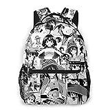 Anime Konosuba Megumin Manga Collage Canvas Laptops Backpack College School for Women & Men