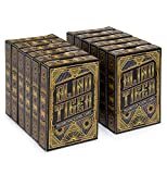 Brybelly 12 Decks Blind Tiger Prohibition & Speakeasy Themed Playing Cards | Black Playing Cards & Gold Accents | Custom Card Deck | Plastic-Coated 310gsm Black Core, Standard Index, Poker Size