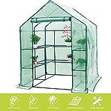 FOBUY - Invernadero Compacto de plástico PE con 6...
