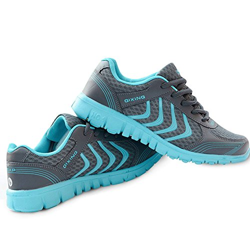 DUOYANGJIASHA Women's Athletic Mesh Breathable Casual Sneakers Lace Up Running Comfort Sports Student Fashion Tennis Shoes Dark Gray