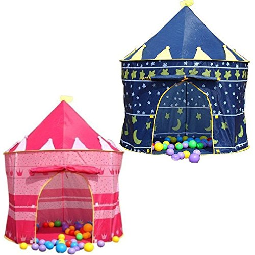 DENNY CHILDRENS KIDS POP UP WIZARD PRINCESS CASTLE TENT INDOOR/OUTDOOR PLAYHOUSE (Princess Pink)