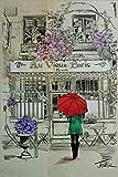 7321 Placa de metal para pintura de hierro vintage de Au Vieux Paris de 30,5 x 20,3 cm, decoración del club de café y bar