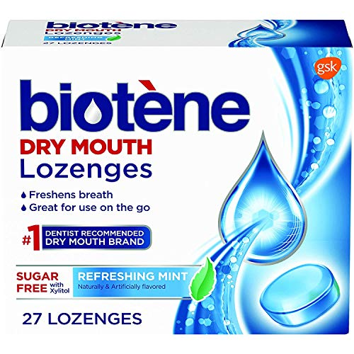 Biotene Dry Mouth Lozenges, Refreshing Mint, 27 Count (Pack of 2) -  048582159426