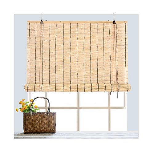 GDMING Bamboe rolgordijn vouwgordijn venster inkijkbescherming, reed gordijn buiten strogordijn scheidingswand bescherming privacy decoratie vochtbestendig