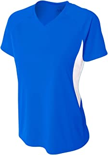 Women's Athletic Moisture Wicking V-Neck Dual-Color Performance Shirt/Uniform (All Sports: Soccer, Softball, Volleyball…)