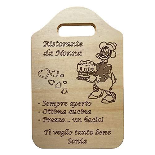 Idea Regalo per il compleanno della NONNA o FESTA DELLA MAMMA un regalo personalizzabile per la FESTA DEI NONNI tagliere decorativo in legno personalizzato