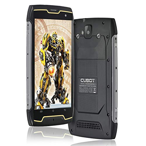 CUBOT Kingkong CS Outdoor Smartphone Ohne Vertrag, Android 10.0, 5,0 Zoll HD Display 4400mAh Akku 2GB+16GB Robustes Handy IP68 Wasserdicht Stoßfest, GPS/Face ID-Schwarz