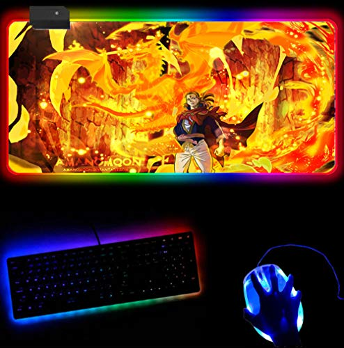 RGB Mouse Pad Black Clover Pad Mouse 3D Computer Gamer Mouse Pad...