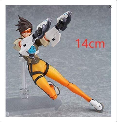 OYQQ Estatua modeloo Overwatch Tracer Flash Figma 352 Escultura Clásica De Decoración De Juego De Caja Móvil