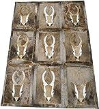 Zerimar Alfombra Piel de Gacela Natural Premium   Springbok   Medidas: 160x116 cms   Alfombra Salon Grandes   Alfombras Exóticas   Alfombras de Salon