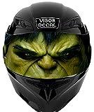 V10 Hulk VISOR TINT DECAL Graphic Sticker Helmet Fits: Icon Shoei Bell HJC Oneal Scorpion AGV