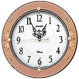 セイコークロック(Seiko Clock) 掛け時計 ピンク唐草柄 光沢 直径32.5×4.8cm ミッキーマウス ミニーマウス 電波 アナログ 大人ディズニー FS511P