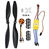 KEESIN RC 1000KV Brushless Motor A2212 13T with 30A Brushless ESC Set 1045 Propeller CW CCW...